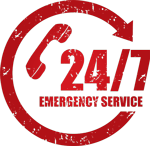 24/7 Emergency Septic Tank Service Badge